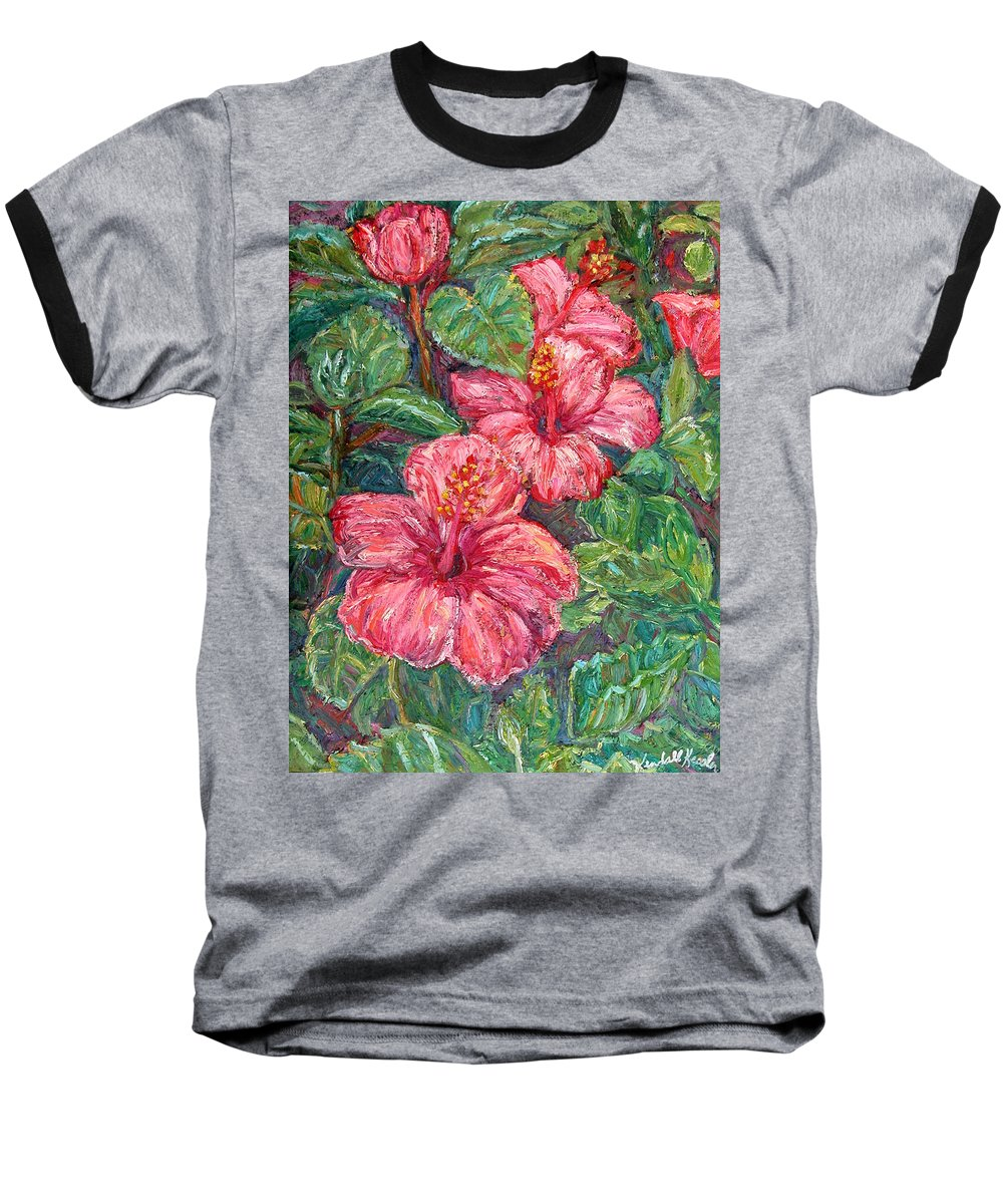 Hibiscus Baseball T-Shirt featuring the painting Hibiscus by Kendall Kessler