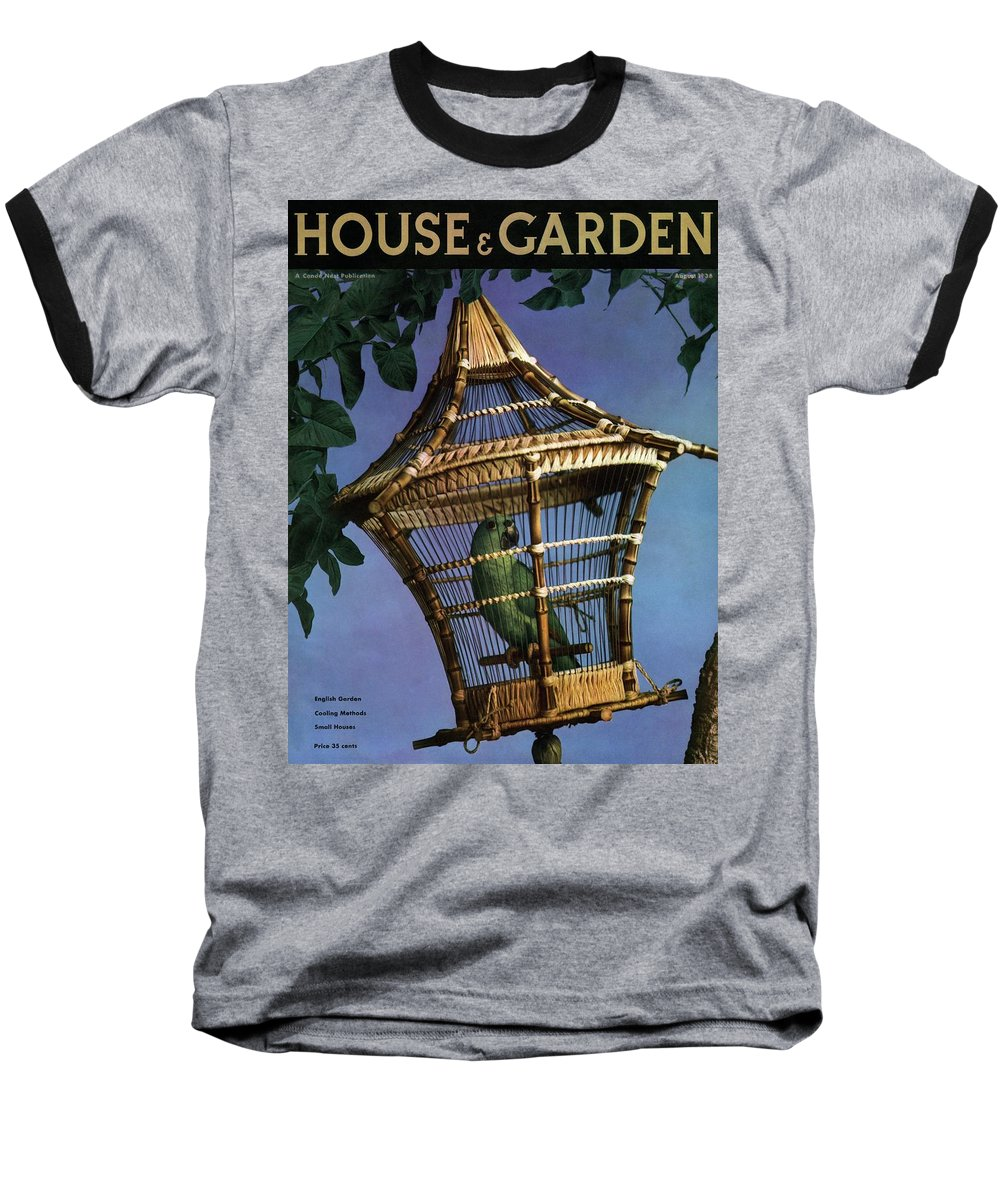 House And Garden Baseball T-Shirt featuring the photograph House And Garden Cover by Anton Bruehl