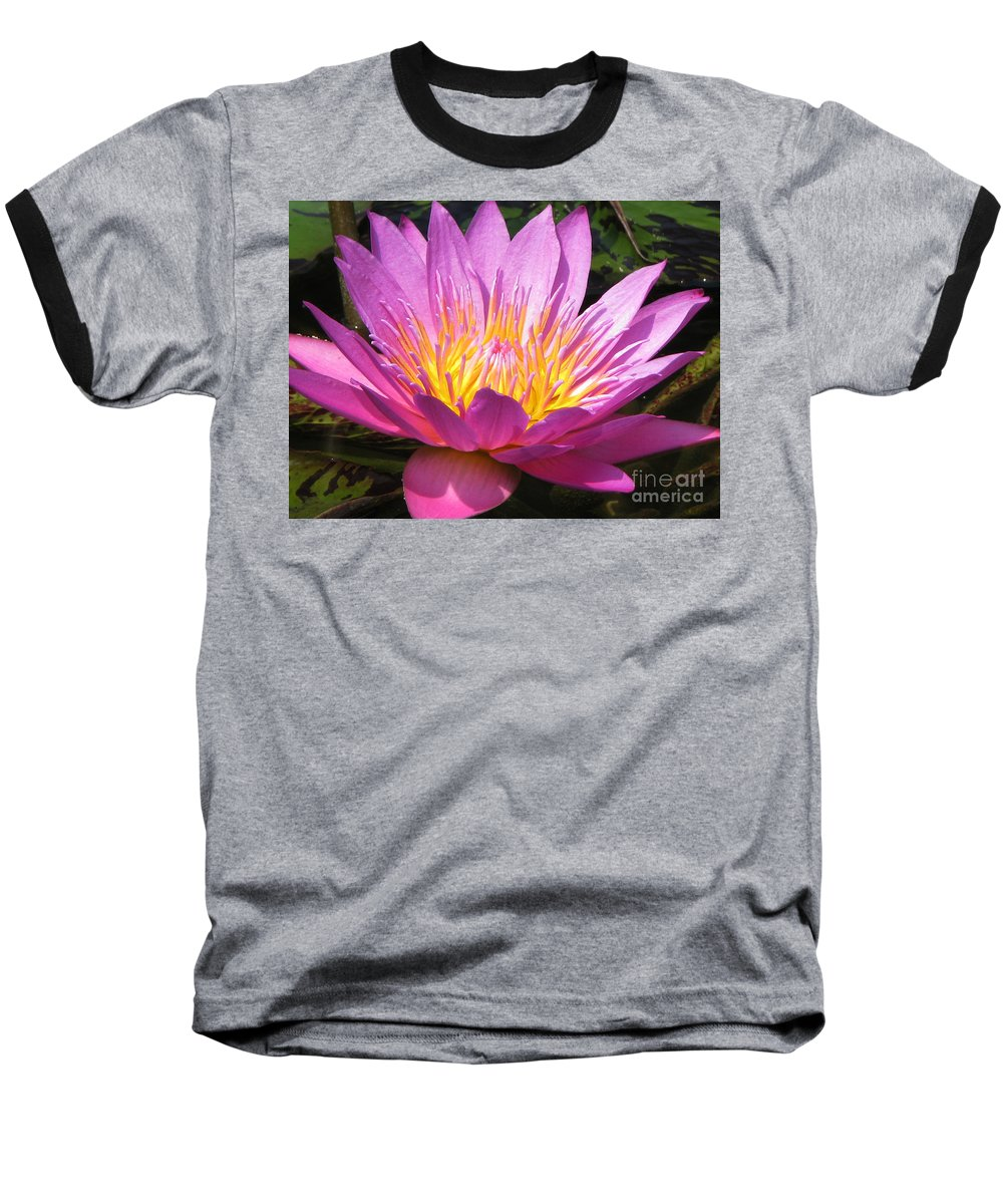Lilly Baseball T-Shirt featuring the photograph It by Amanda Barcon