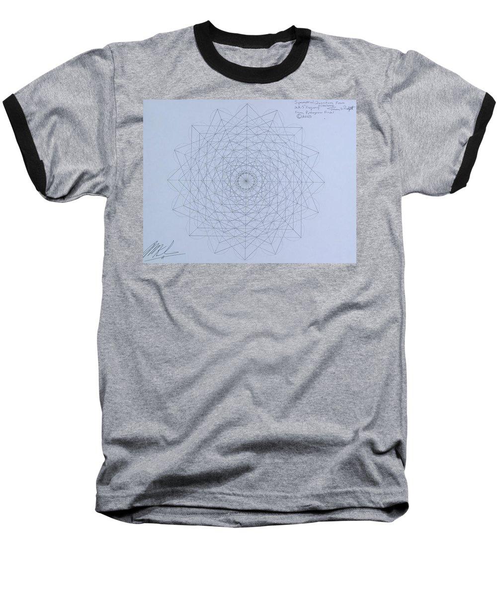Jason Baseball T-Shirt featuring the drawing Quantum Foam by Jason Padgett