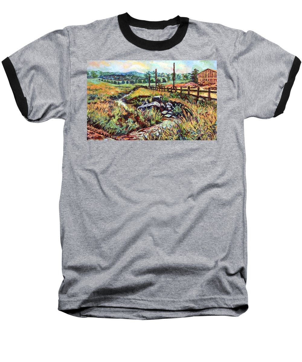Landscape Paintings Baseball T-Shirt featuring the painting Stroubles Creek by Kendall Kessler