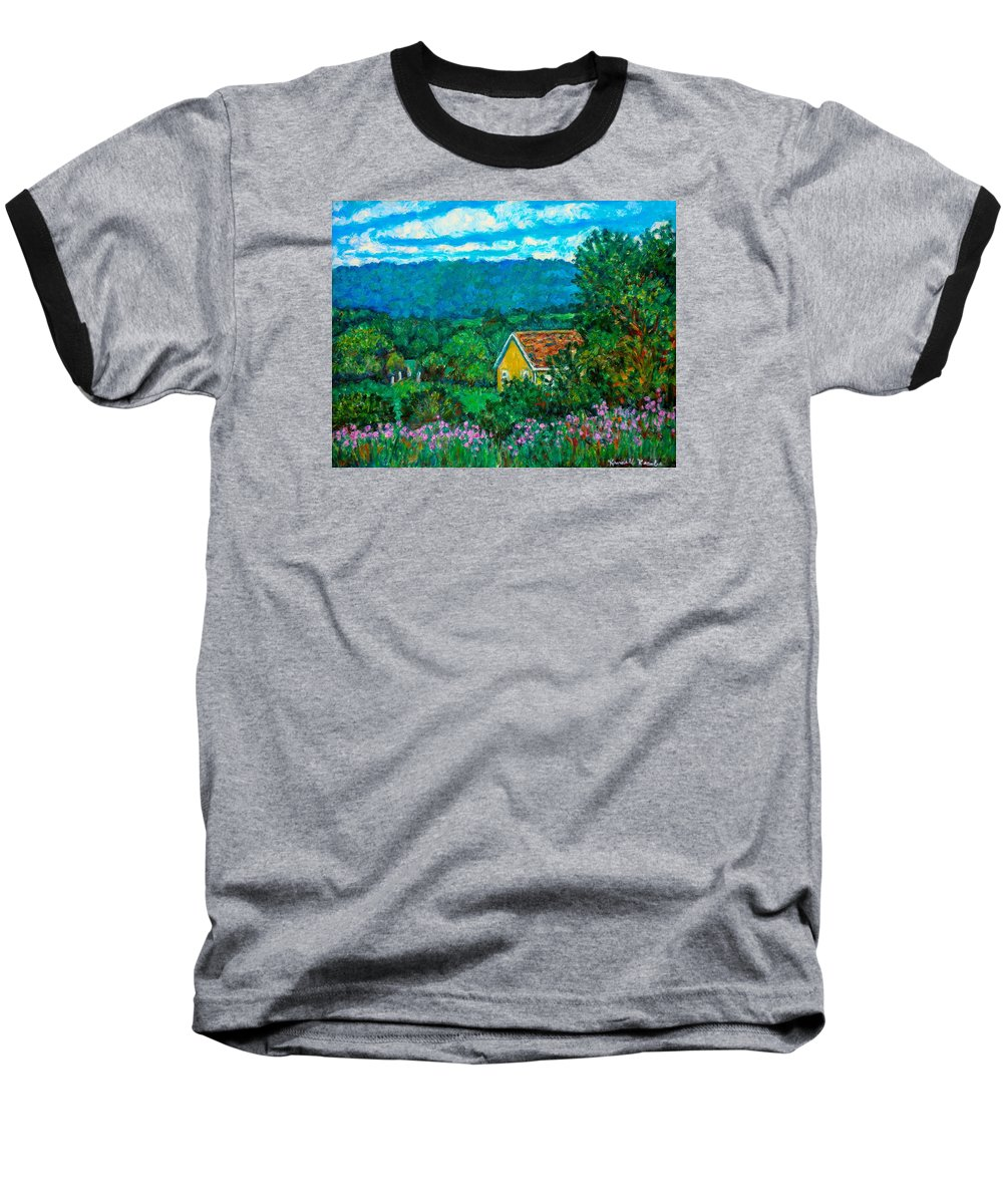 Landscape Baseball T-Shirt featuring the painting 460 by Kendall Kessler