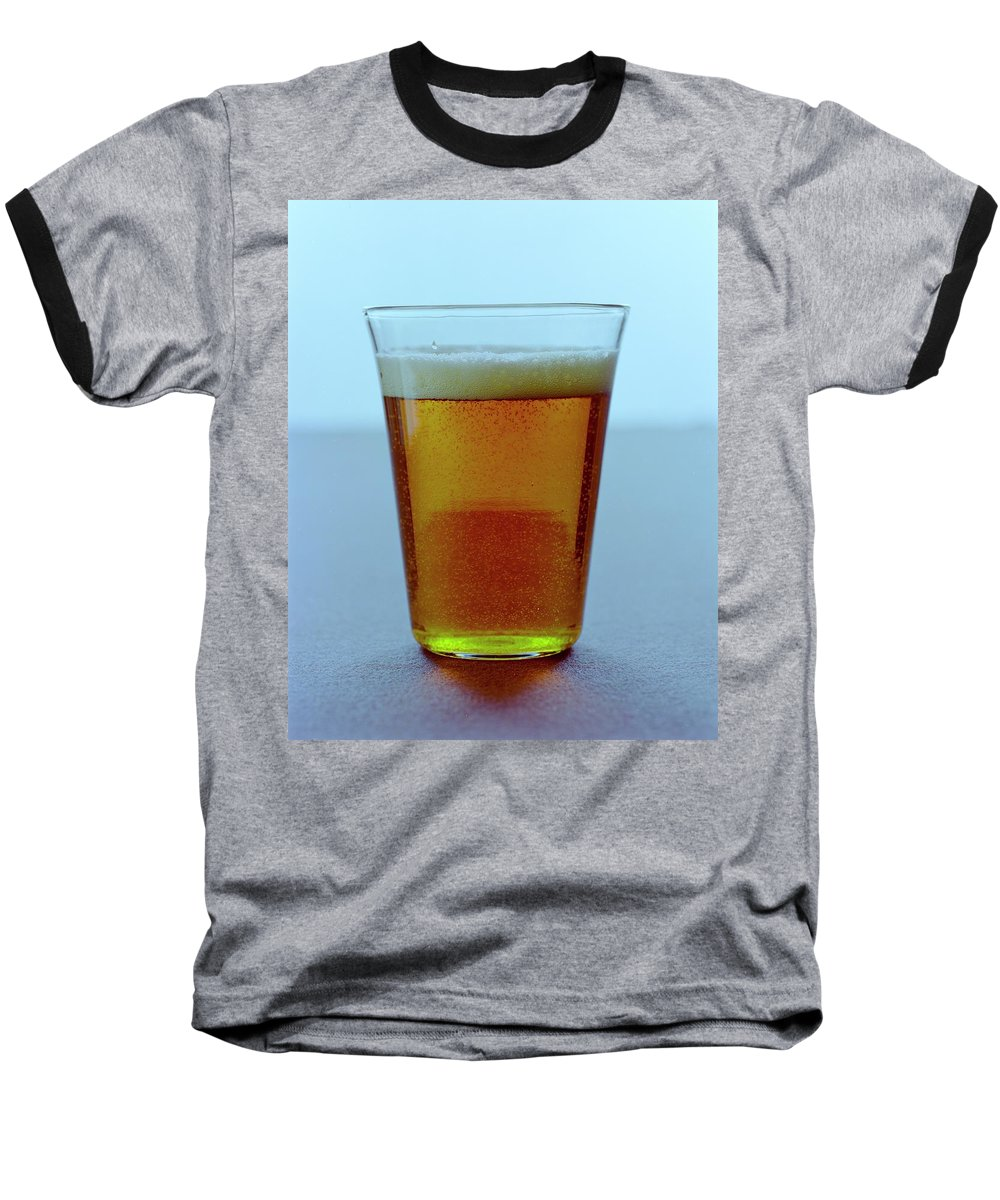 Beverage Baseball T-Shirt featuring the photograph A Glass Of Beer by Romulo Yanes