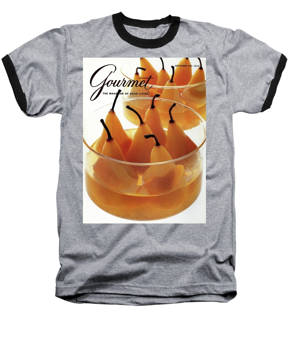 Food Baseball T-Shirt featuring the photograph A Gourmet Cover Of Baked Pears by Romulo Yanes