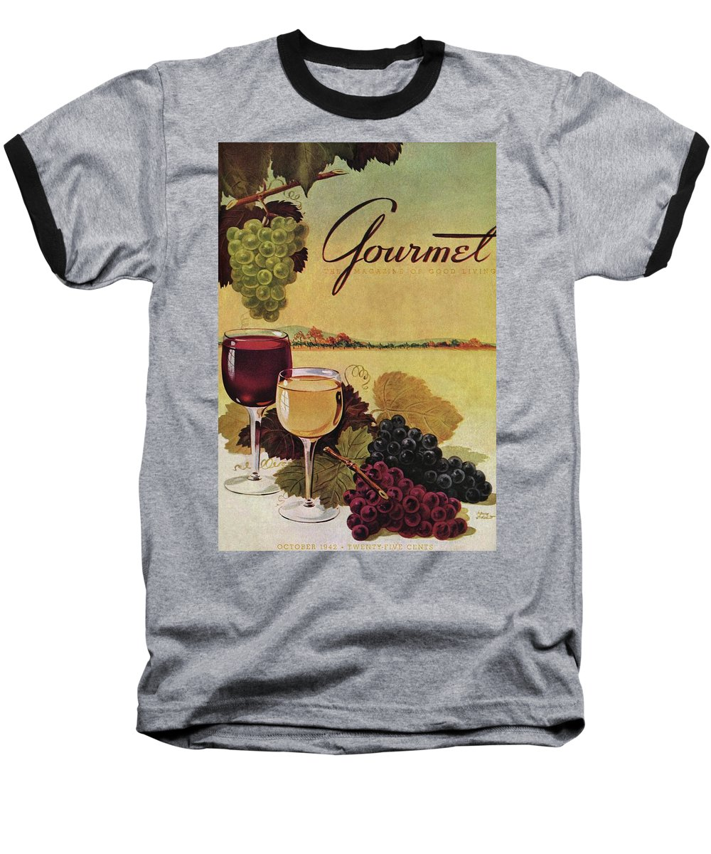 Exterior Baseball T-Shirt featuring the photograph A Gourmet Cover Of Wine by Henry Stahlhut