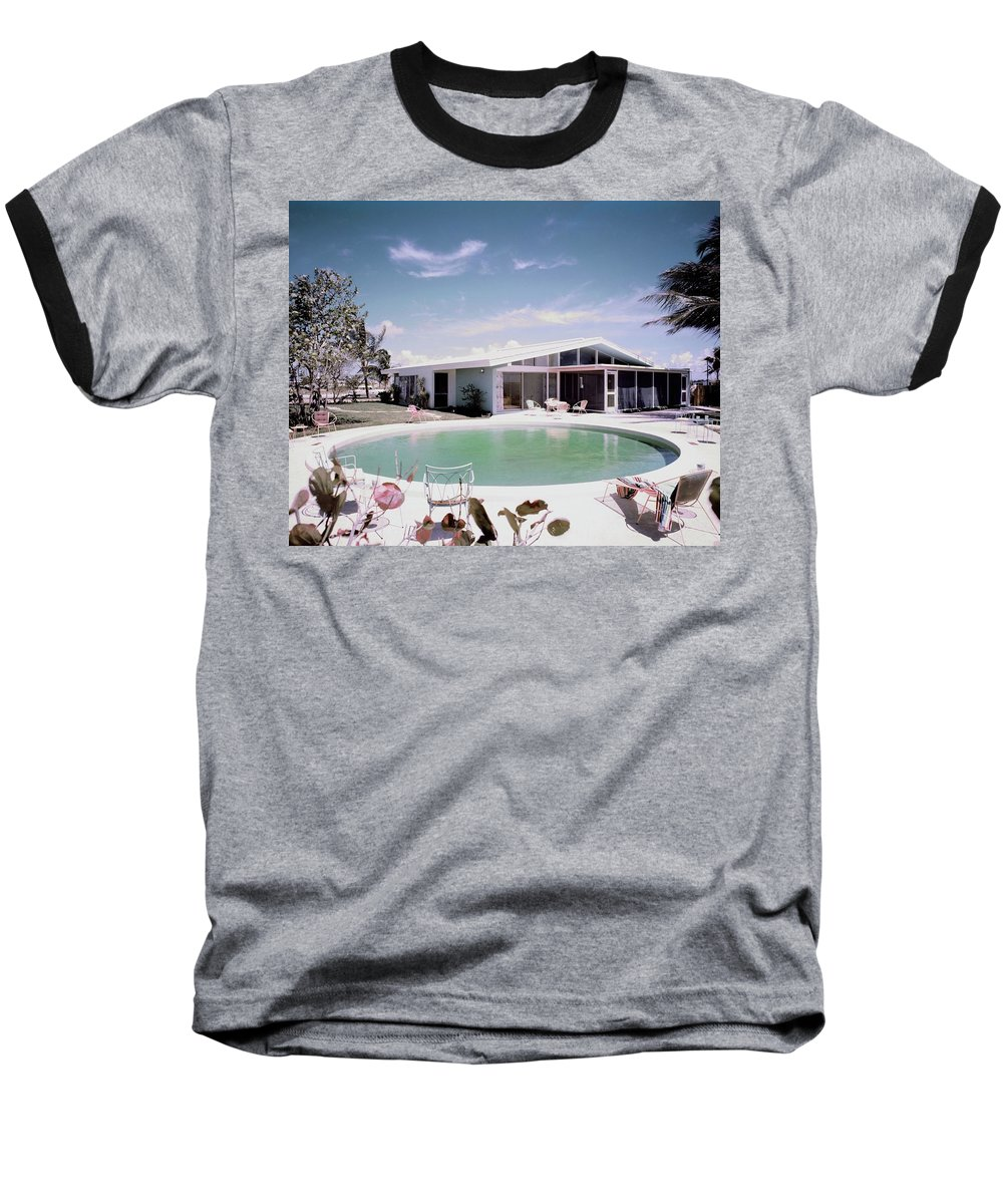 Miami Baseball T-Shirt featuring the photograph A House In Miami by Tom Leonard