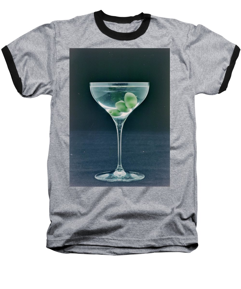 Nobody Baseball T-Shirt featuring the photograph A Martini by Romulo Yanes