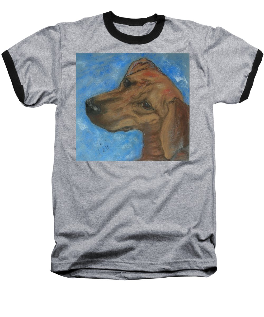 Pastel Baseball T-Shirt featuring the drawing A Twist Of Might by Cori Solomon