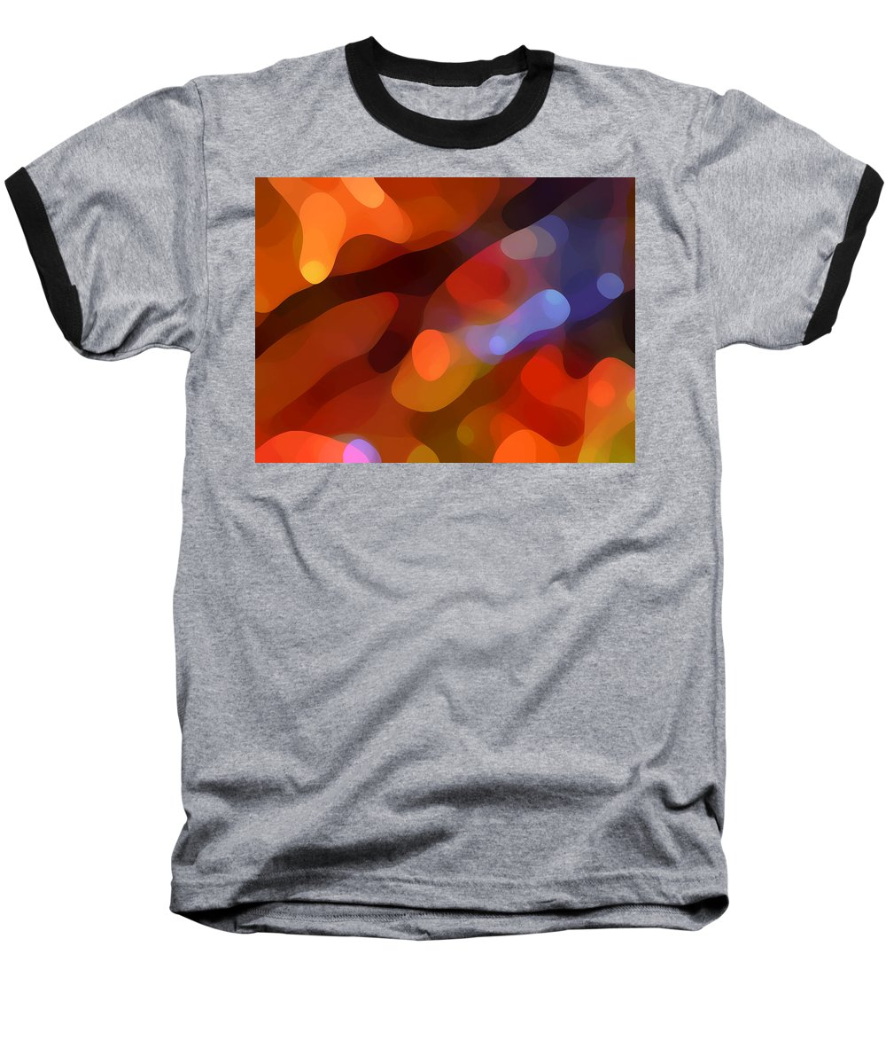 Abstract Art Baseball T-Shirt featuring the painting Abstract Fall Light by Amy Vangsgard