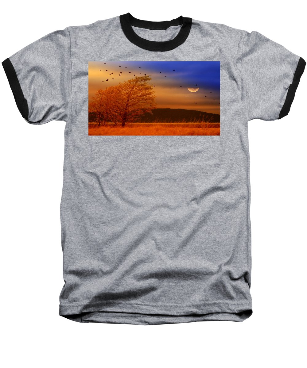 Landscape Baseball T-Shirt featuring the photograph Against The Wind by Holly Kempe