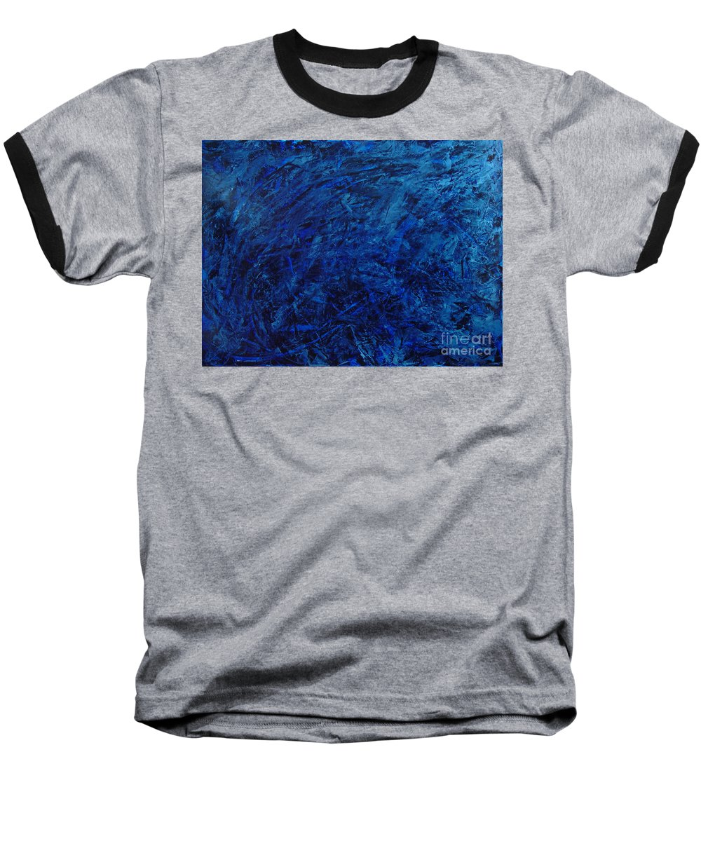 Abstract Baseball T-Shirt featuring the painting Alans Call by Dean Triolo