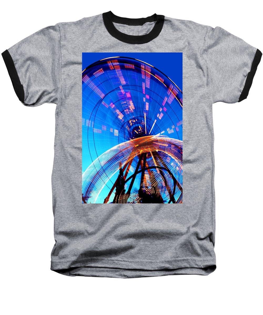 Amusement Park Baseball T-Shirt featuring the photograph Amusement Park Rides 1 by Steve Ohlsen