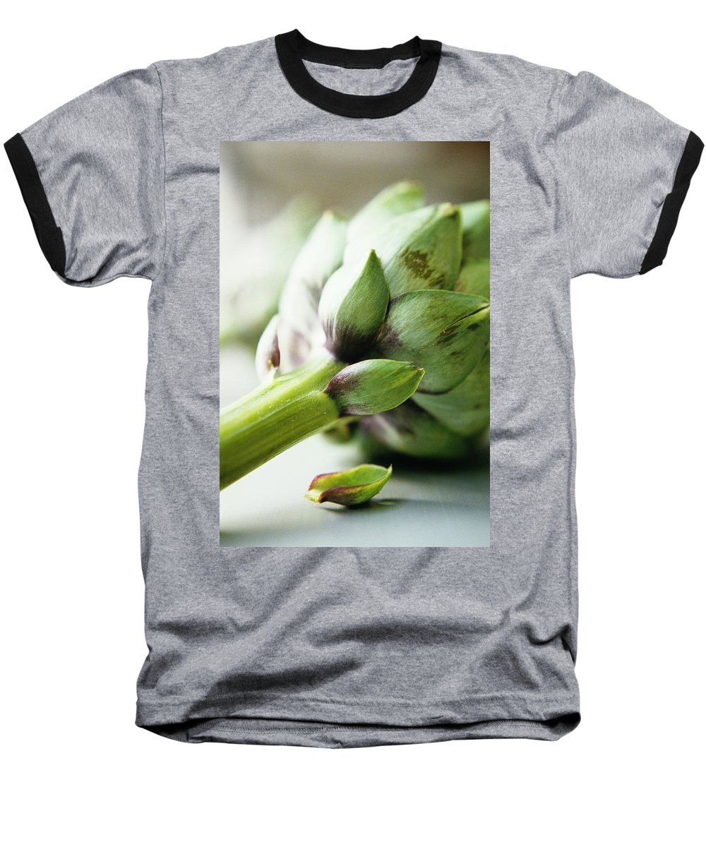 Fruits Baseball T-Shirt featuring the photograph An Artichoke by Romulo Yanes