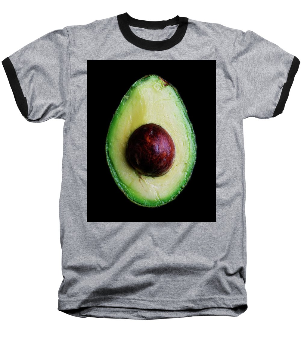Fruits Baseball T-Shirt featuring the photograph An Avocado by Romulo Yanes