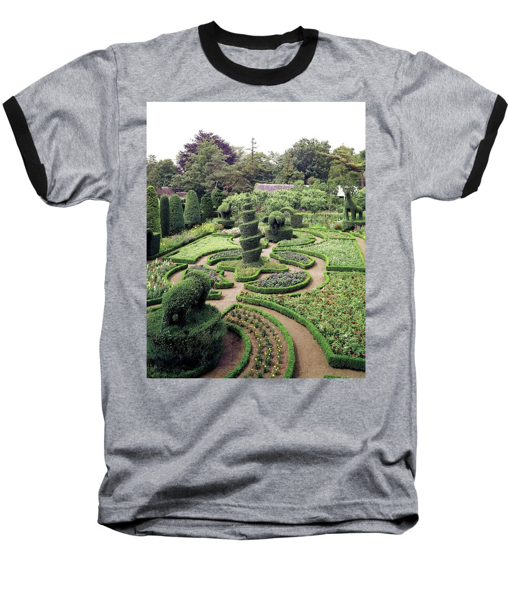Exterior Baseball T-Shirt featuring the photograph An Ornamental Garden by Tom Leonard