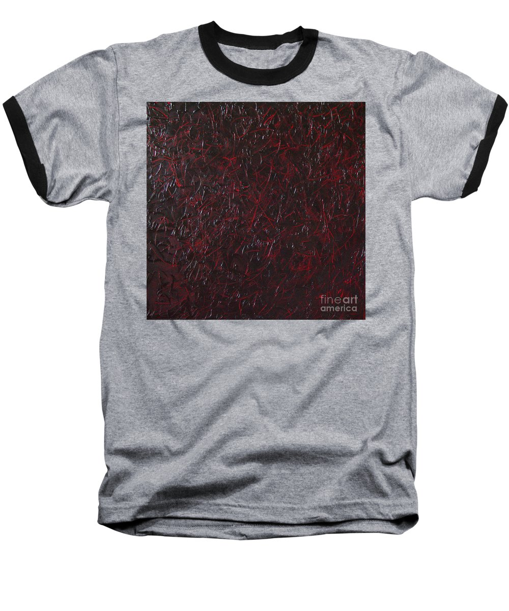 Abstract Baseball T-Shirt featuring the painting Another Shedding by Dean Triolo