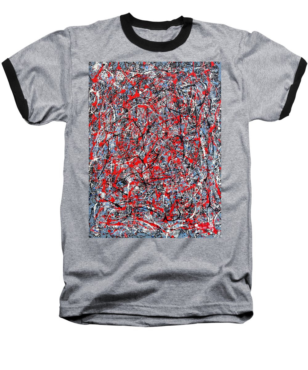 Abstract Baseball T-Shirt featuring the painting Astral Gate 2001 by RalphGM