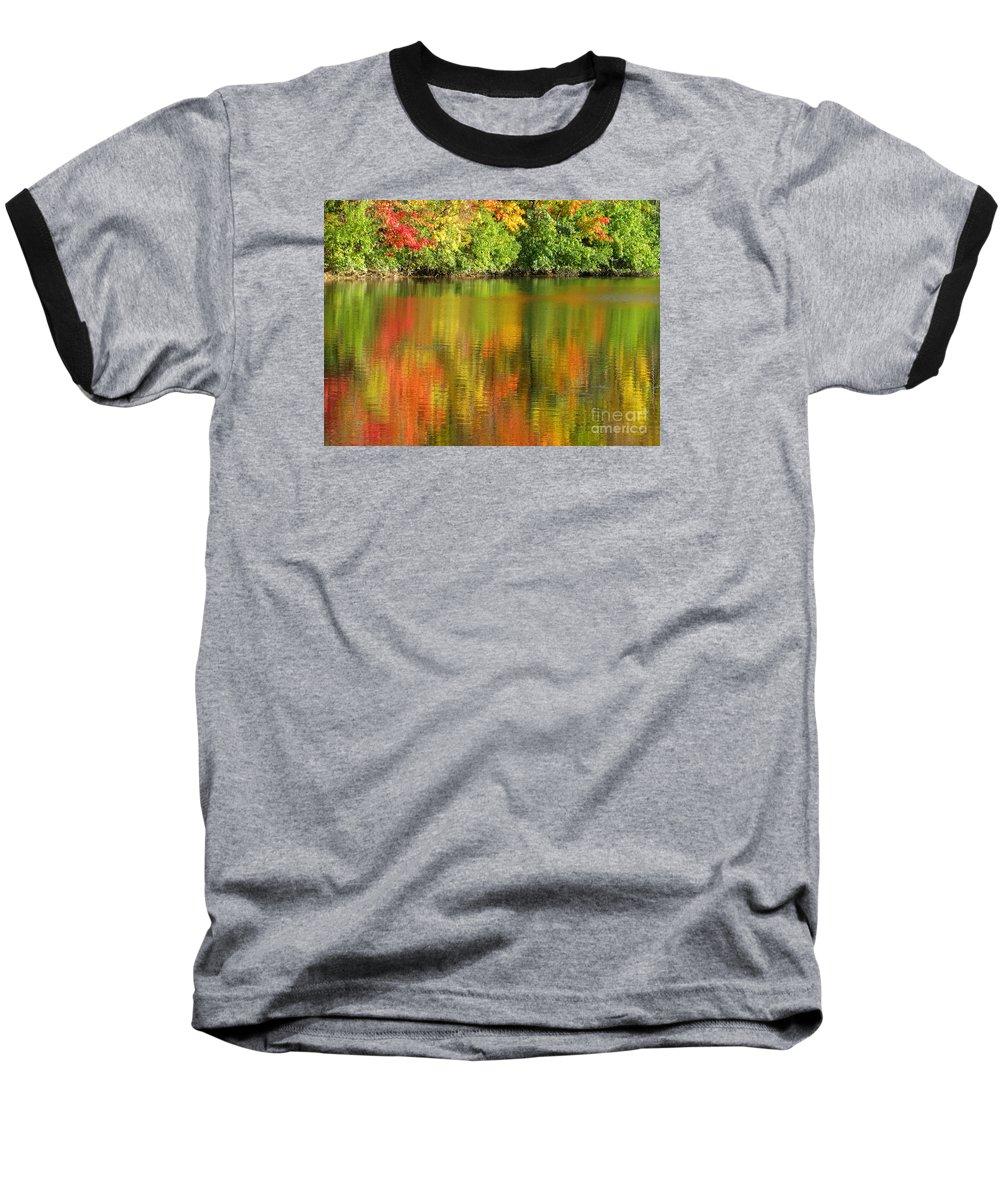 Autumn Baseball T-Shirt featuring the photograph Autumn Brilliance by Ann Horn