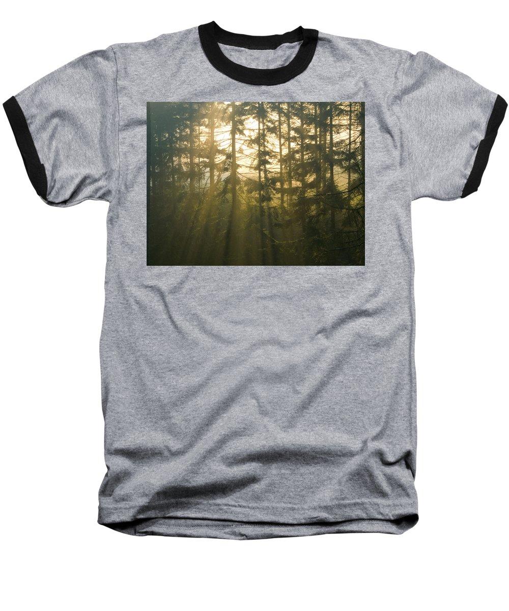 Light Baseball T-Shirt featuring the photograph Awe by Daniel Csoka