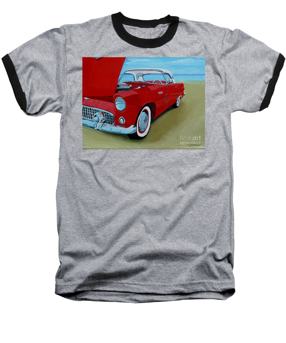Car Baseball T-Shirt featuring the painting Thunder Bird by Anthony Dunphy