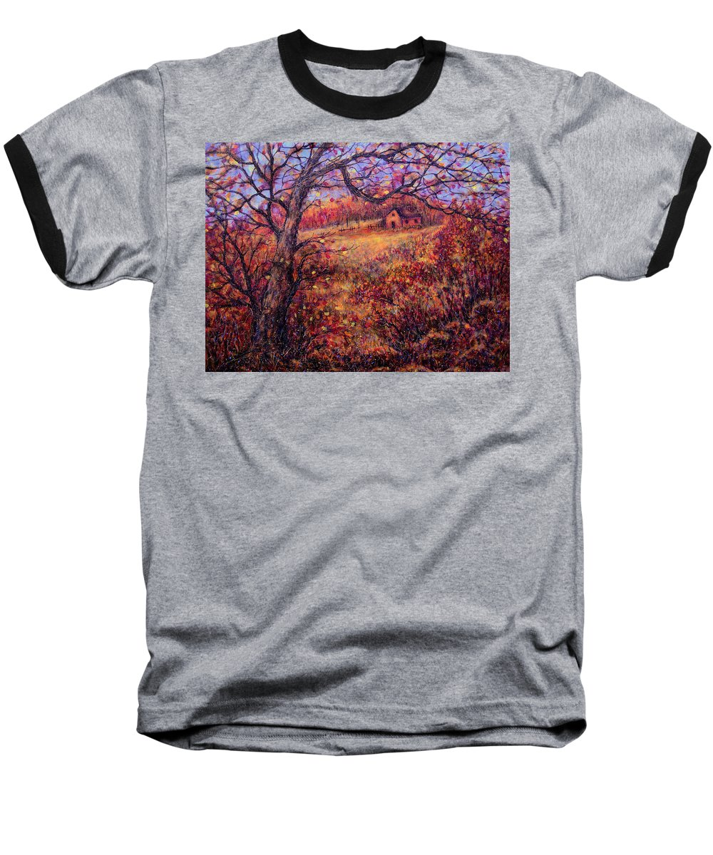 Autumn Baseball T-Shirt featuring the painting Beautiful Autumn by Natalie Holland