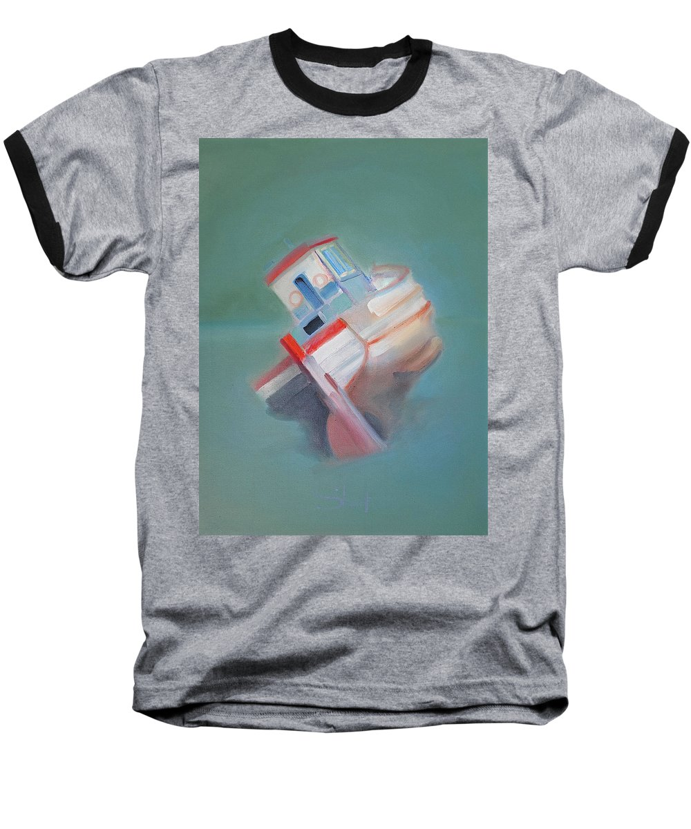 Fishing Boat Baseball T-Shirt featuring the painting Boat Retired Tavira by Charles Stuart