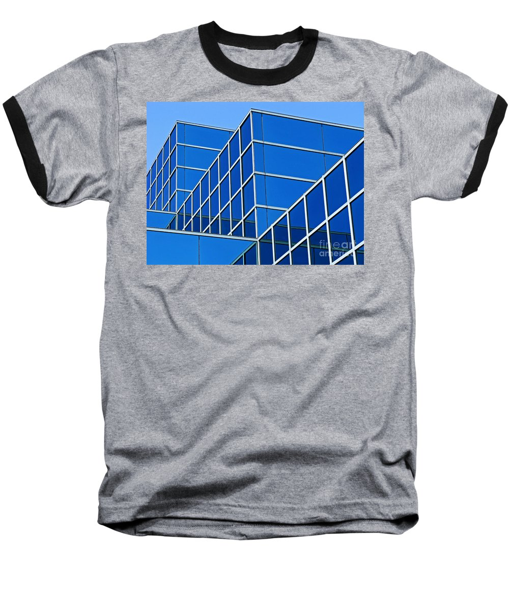 Building Baseball T-Shirt featuring the photograph Boldly Blue by Ann Horn