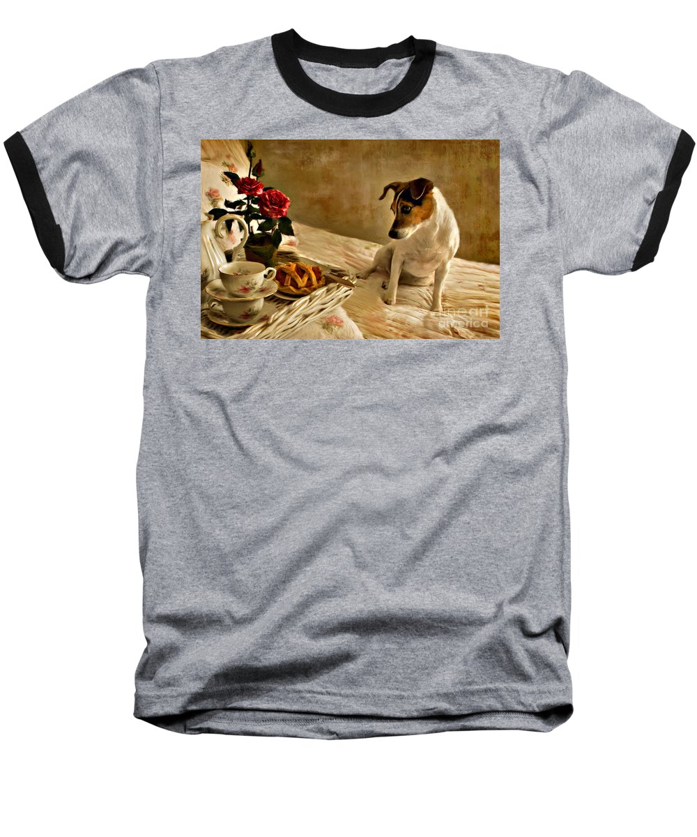 Baseball T-Shirt featuring the photograph Bon Appetit by Jean Hildebrant