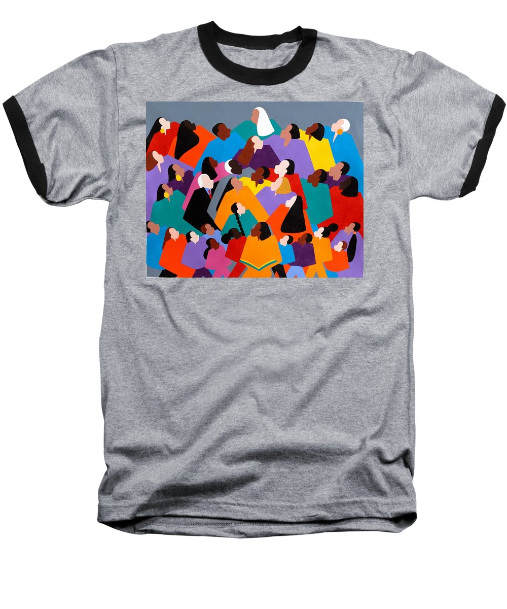 Figurative Baseball T-Shirt featuring the painting Brilliance by Synthia SAINT JAMES