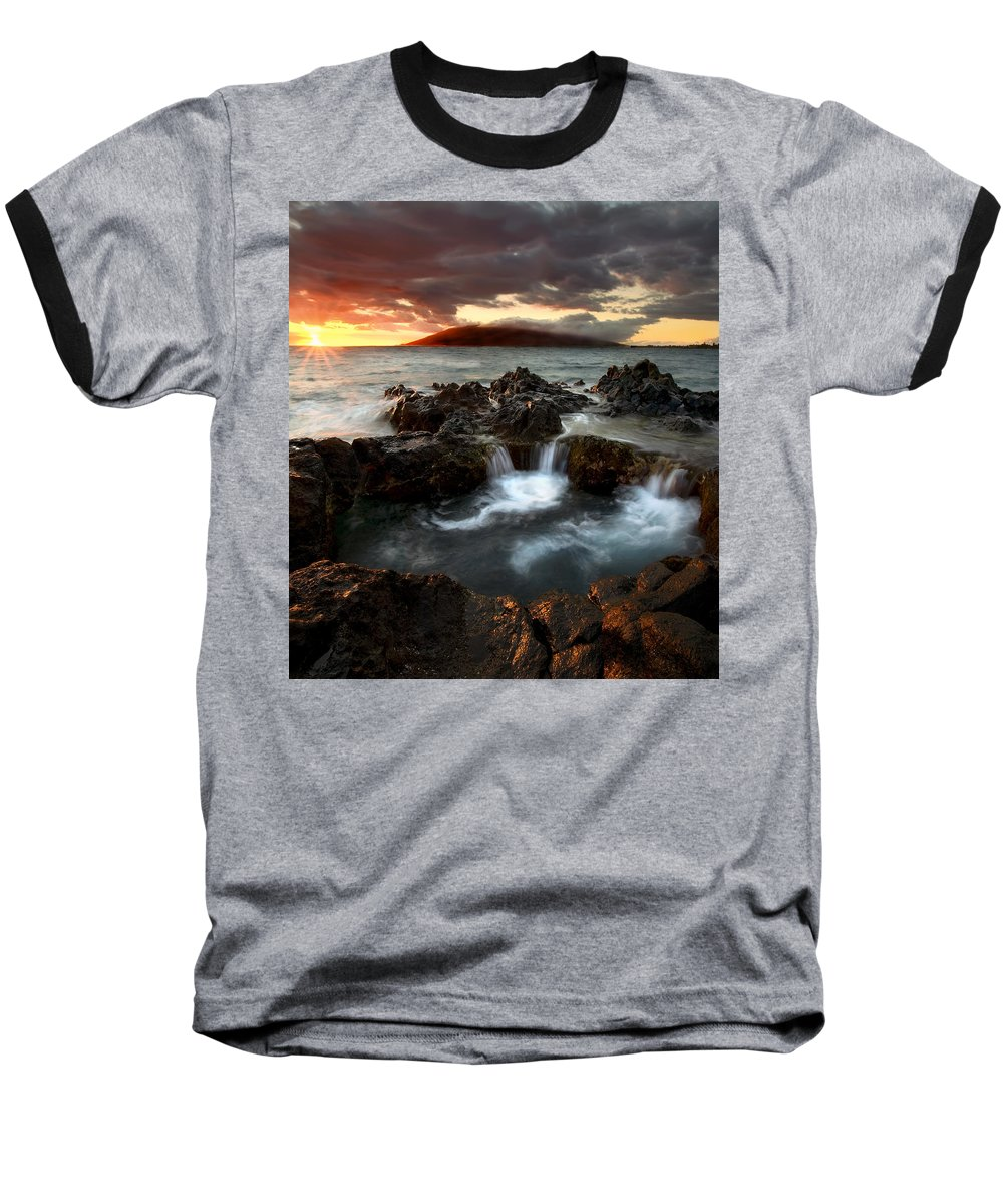 Sunset Baseball T-Shirt featuring the photograph Bubbling Cauldron by Mike Dawson