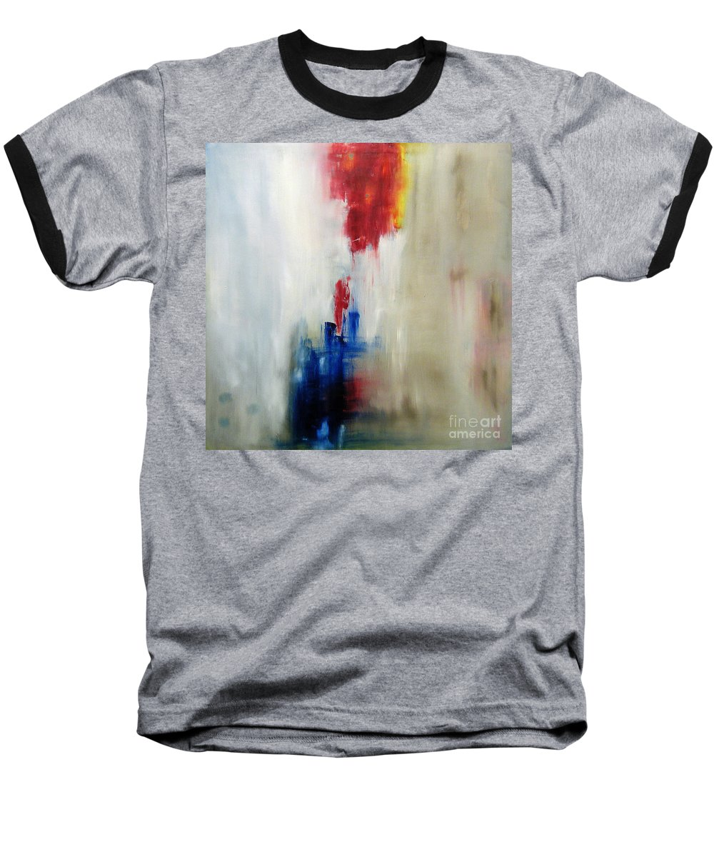 Abstract Painting Baseball T-Shirt featuring the painting C-15 by Jeff Barrett