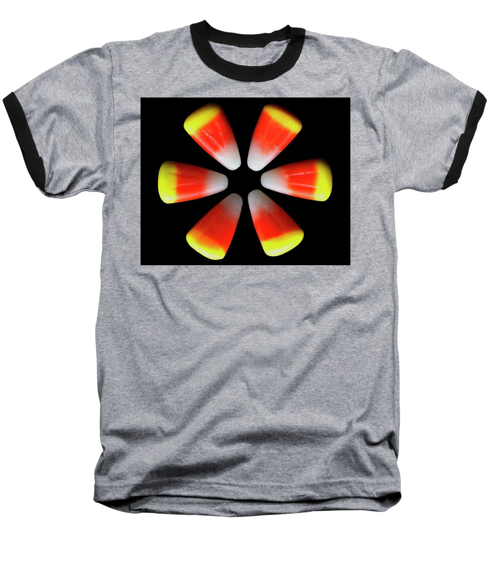 Cooking Baseball T-Shirt featuring the photograph Candy Corn by Romulo Yanes