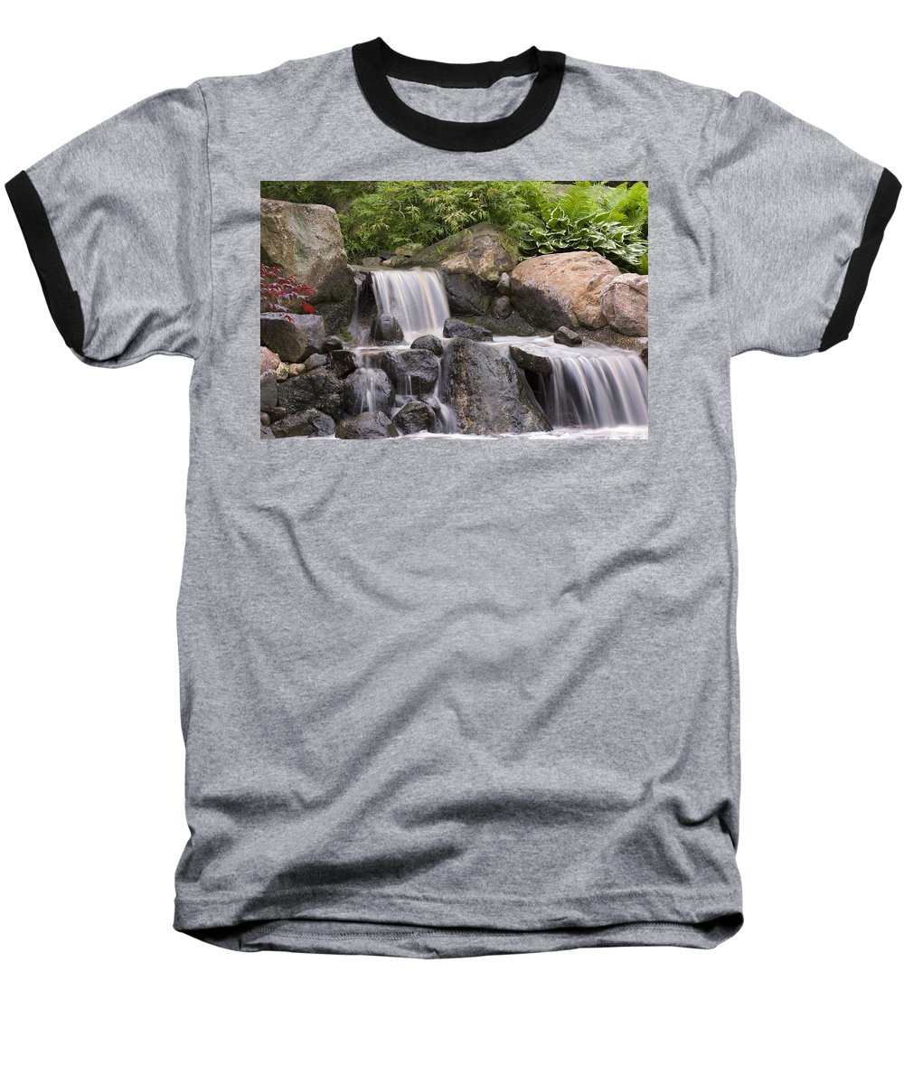 3scape Baseball T-Shirt featuring the photograph Cascade Waterfall by Adam Romanowicz