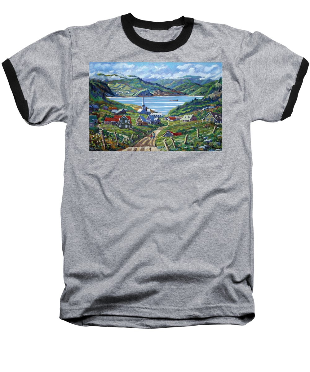 Baseball T-Shirt featuring the painting Charlevoix Scene by Richard T Pranke