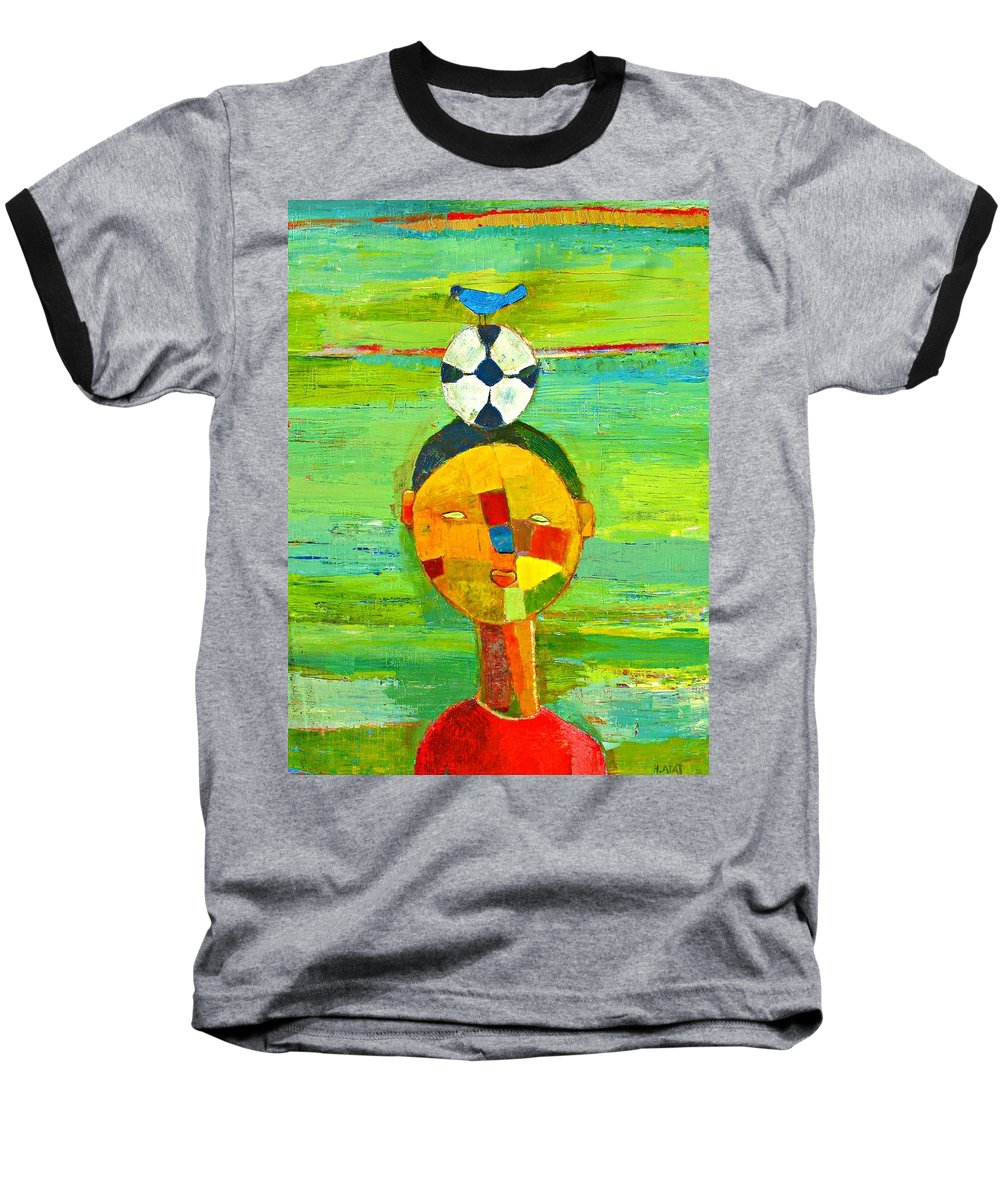 Childhood Baseball T-Shirt featuring the painting Childhood Memories by Habib Ayat