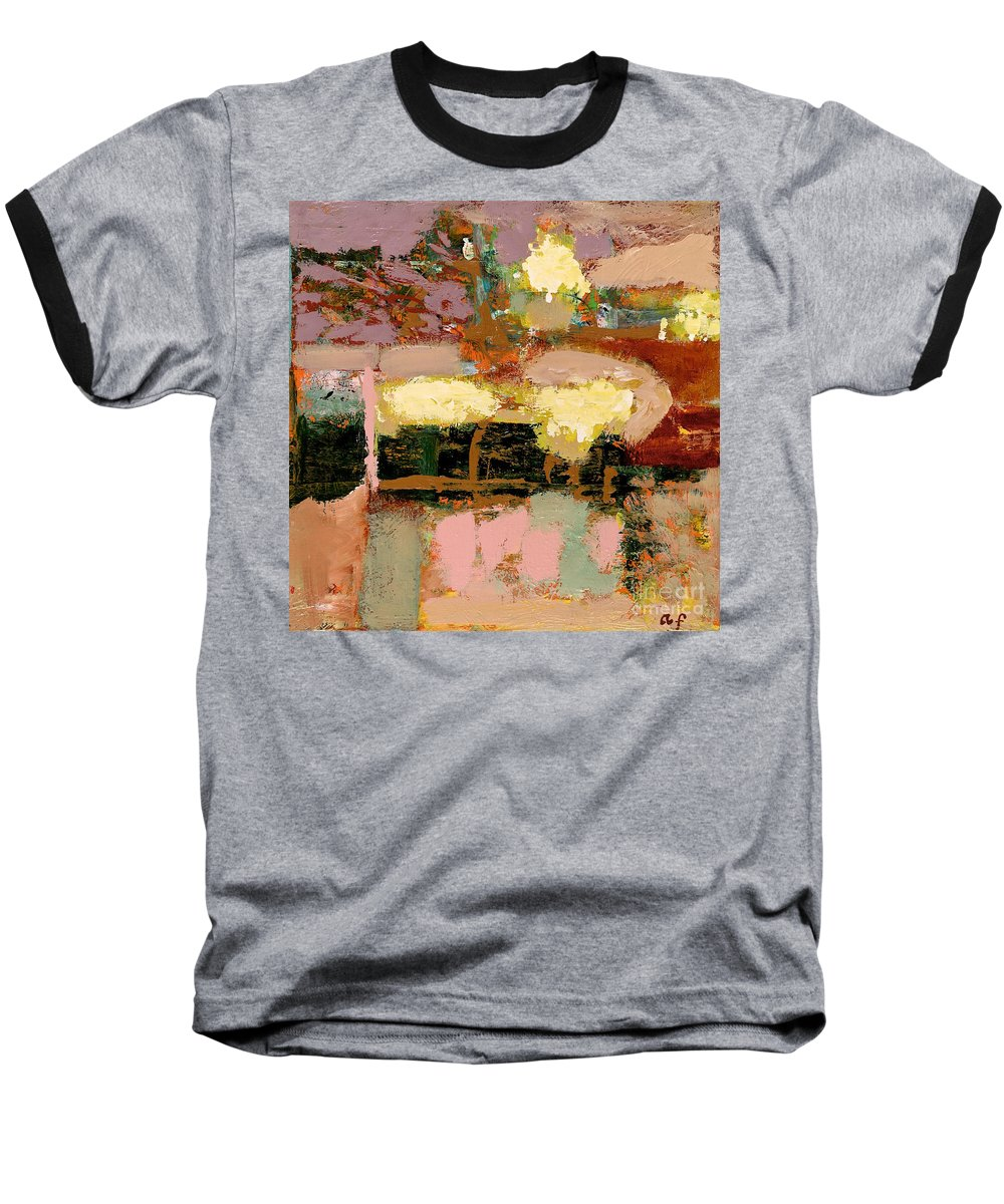 Landscape Baseball T-Shirt featuring the painting Chopped Liver by Allan P Friedlander
