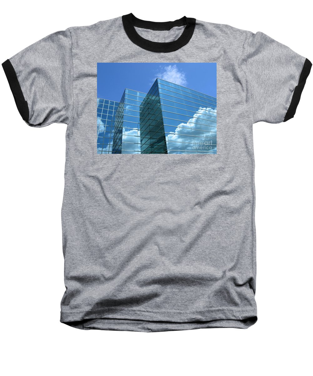 Building Baseball T-Shirt featuring the photograph Cloud Mirror by Ann Horn