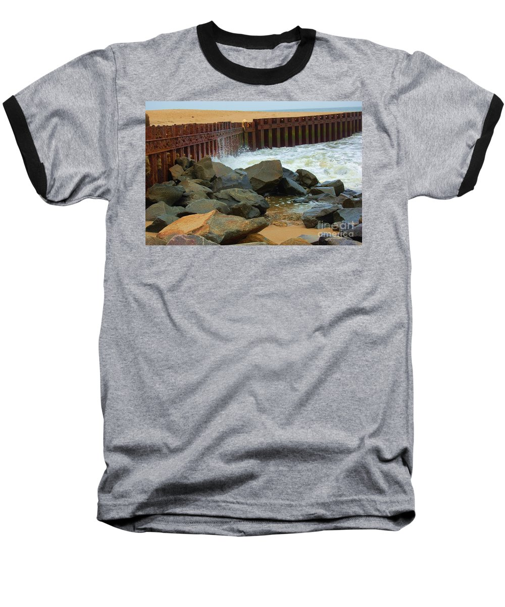 Water Baseball T-Shirt featuring the photograph Coast Of Carolina by Debbi Granruth