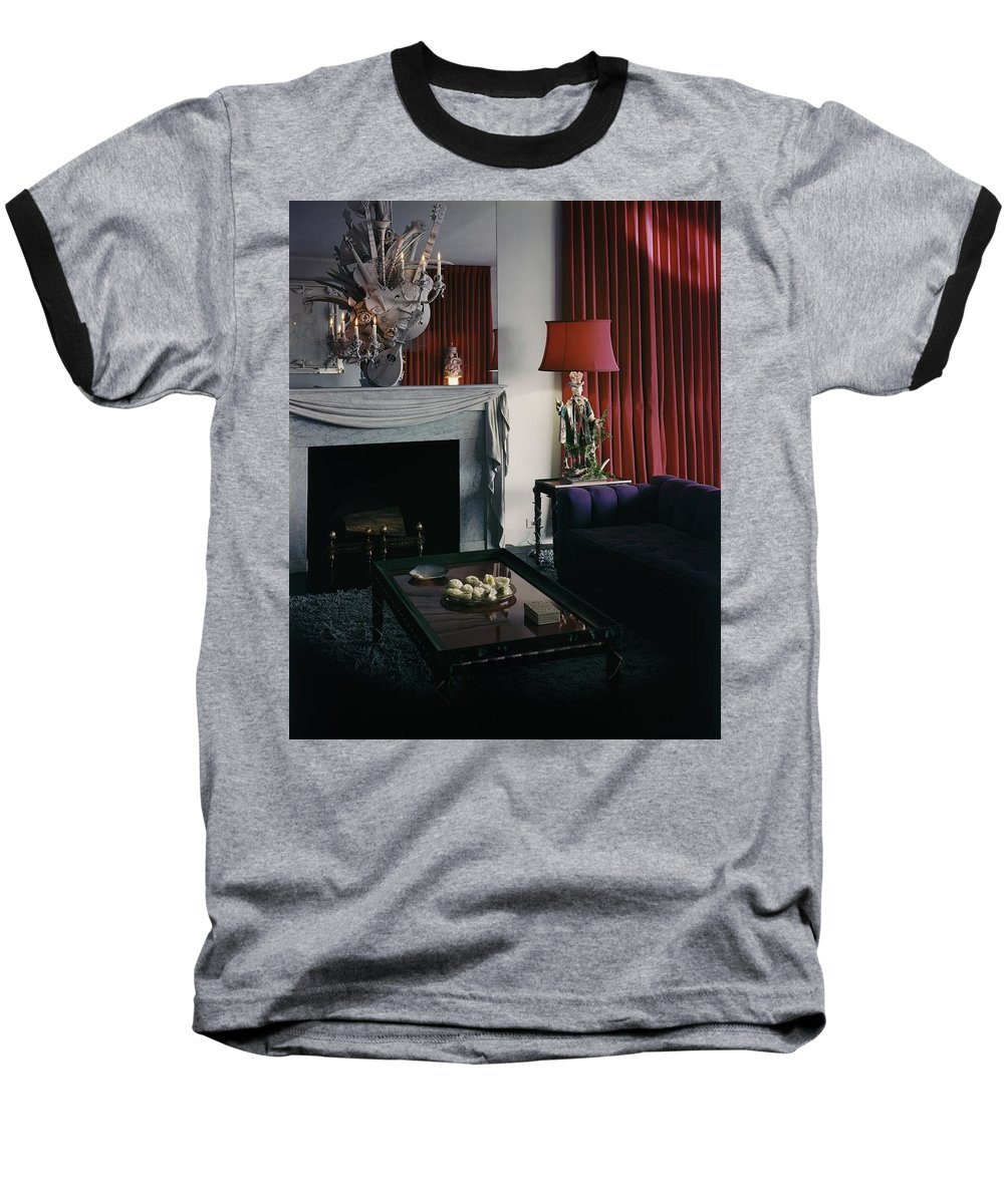 Corbina Wright Baseball T-Shirt featuring the photograph Cobina Wright's Living Room by George Platt Lynes