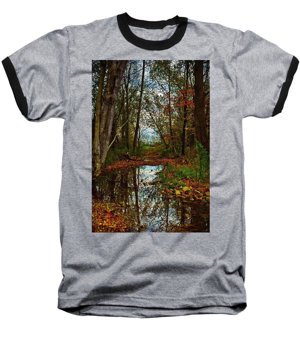 Landscape Baseball T-Shirt featuring the photograph Colors Of Fall by Kristi Swift