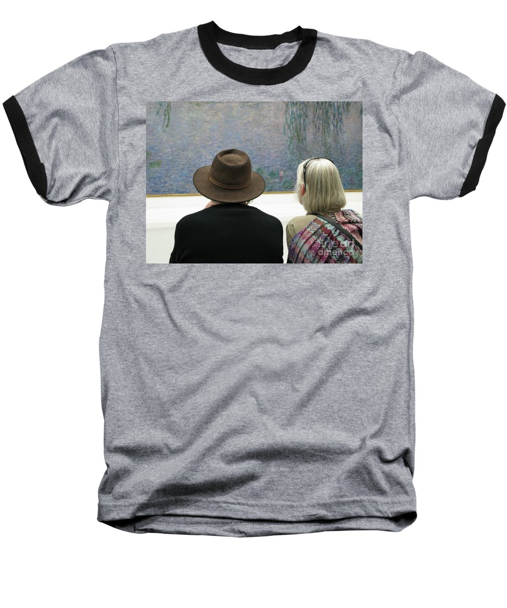 People Baseball T-Shirt featuring the photograph Contemplating Art by Ann Horn