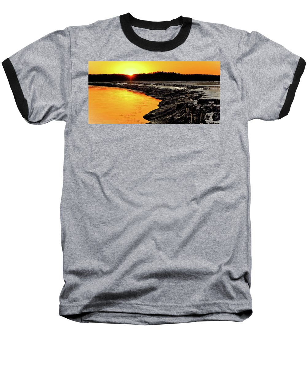Alaska Baseball T-Shirt featuring the photograph Contrasts In Nature by Ron Day