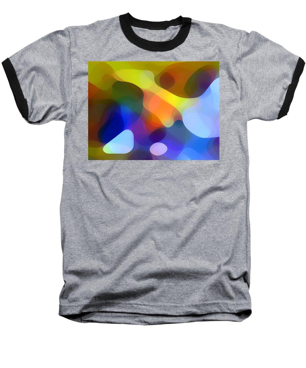 Bold Baseball T-Shirt featuring the painting Cool Dappled Light by Amy Vangsgard