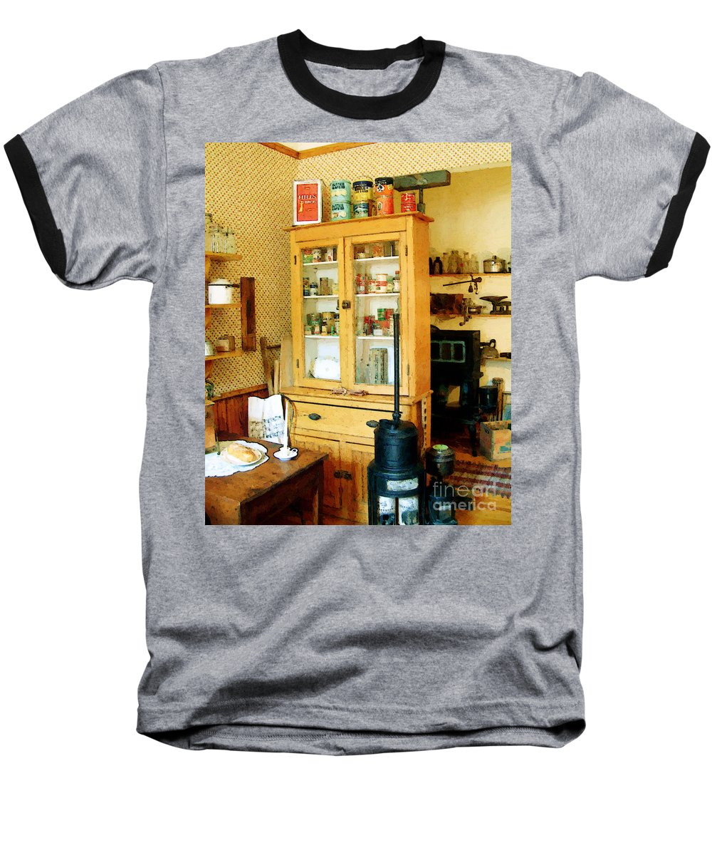 Antiques Baseball T-Shirt featuring the painting Country Kitchen Sunshine IIi by RC deWinter