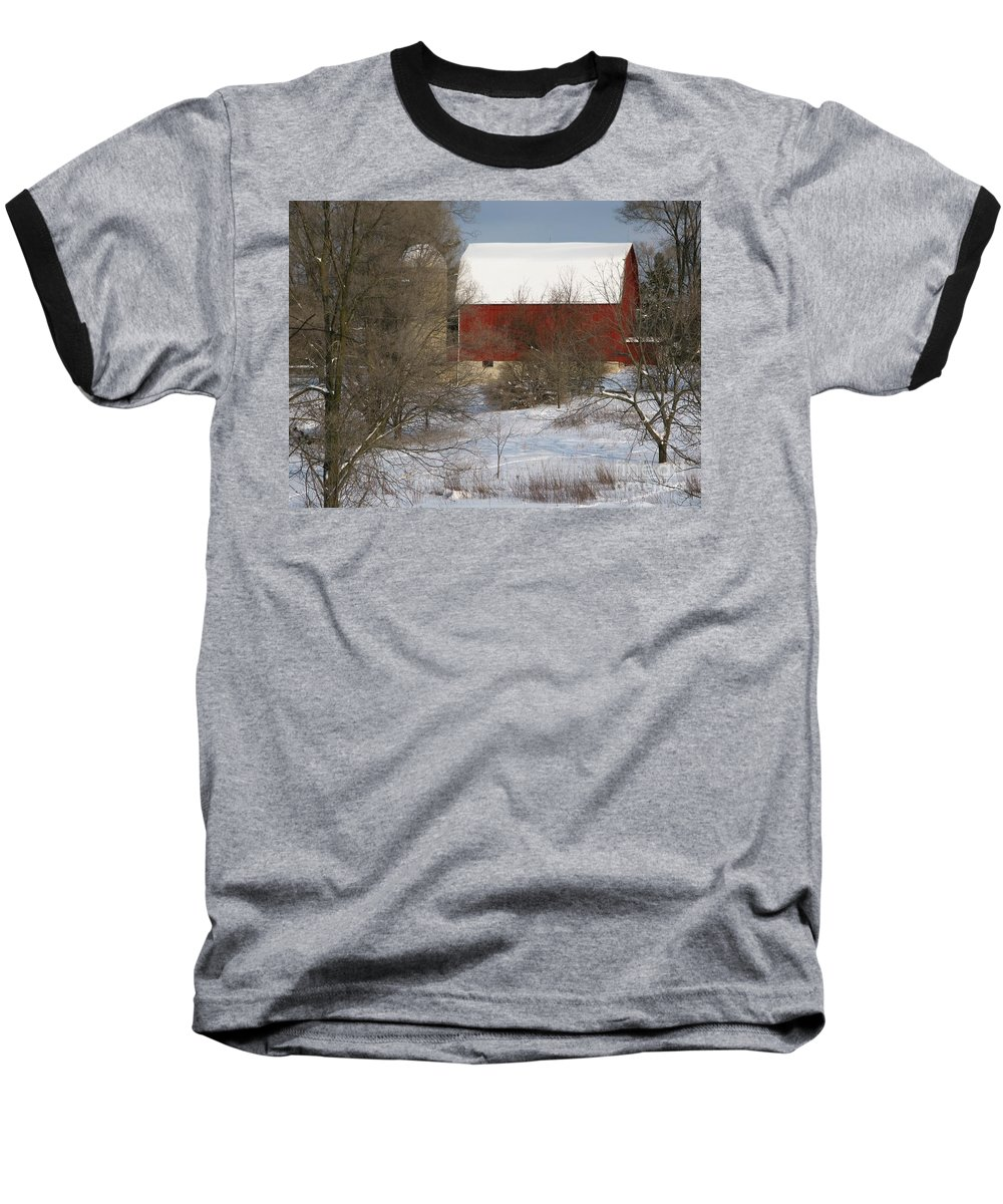 Winter Baseball T-Shirt featuring the photograph Country Winter by Ann Horn