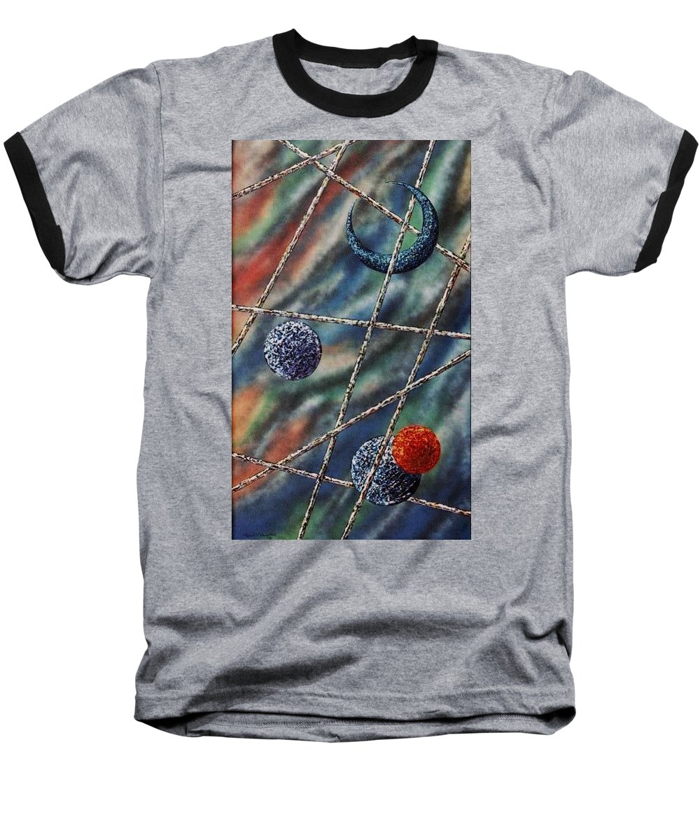 Abstract Baseball T-Shirt featuring the painting Crescent by Micah Guenther