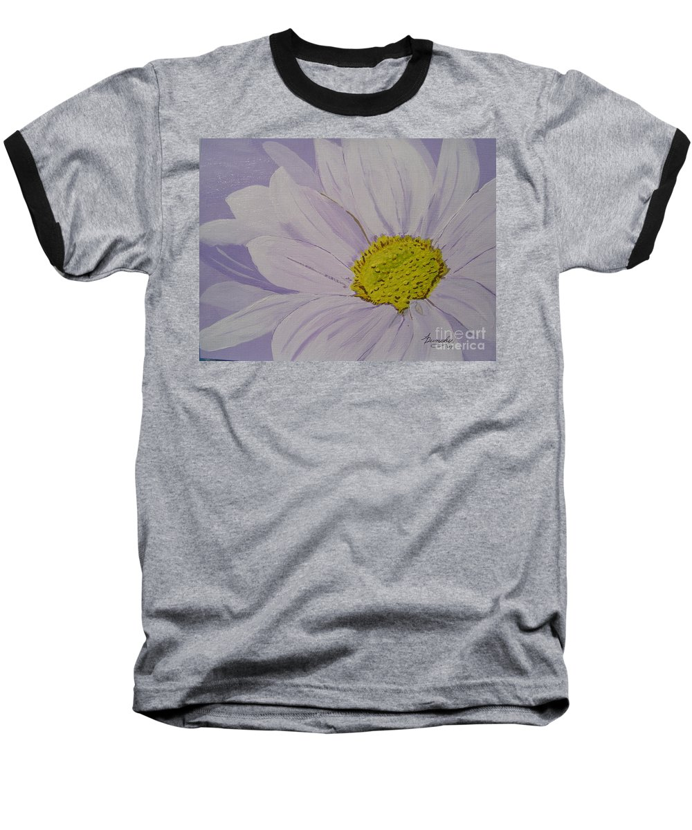 Daisy Baseball T-Shirt featuring the painting Daisy by Anthony Dunphy