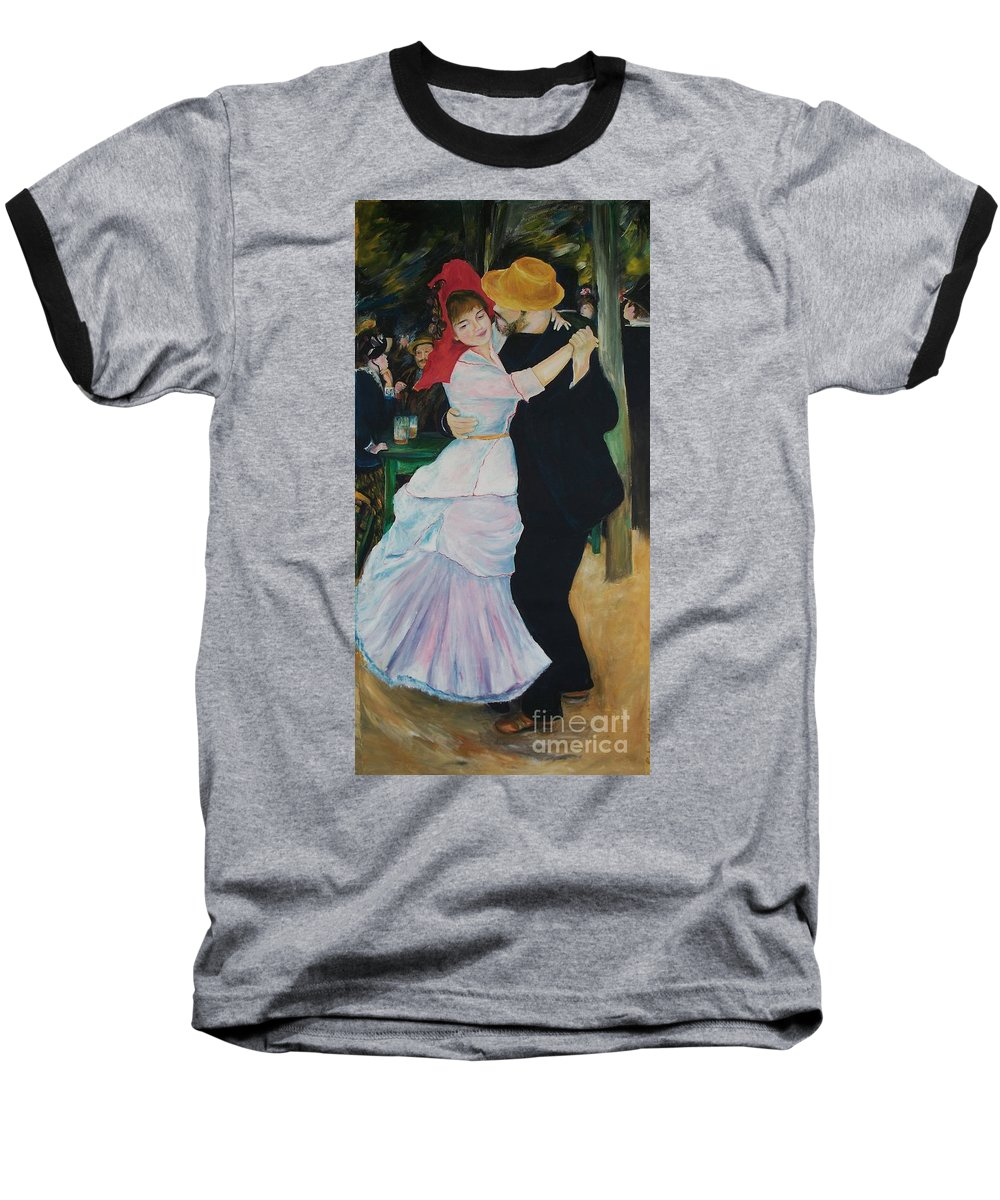 Impressionism Baseball T-Shirt featuring the painting Dance At Bougival Renoir by Eric Schiabor