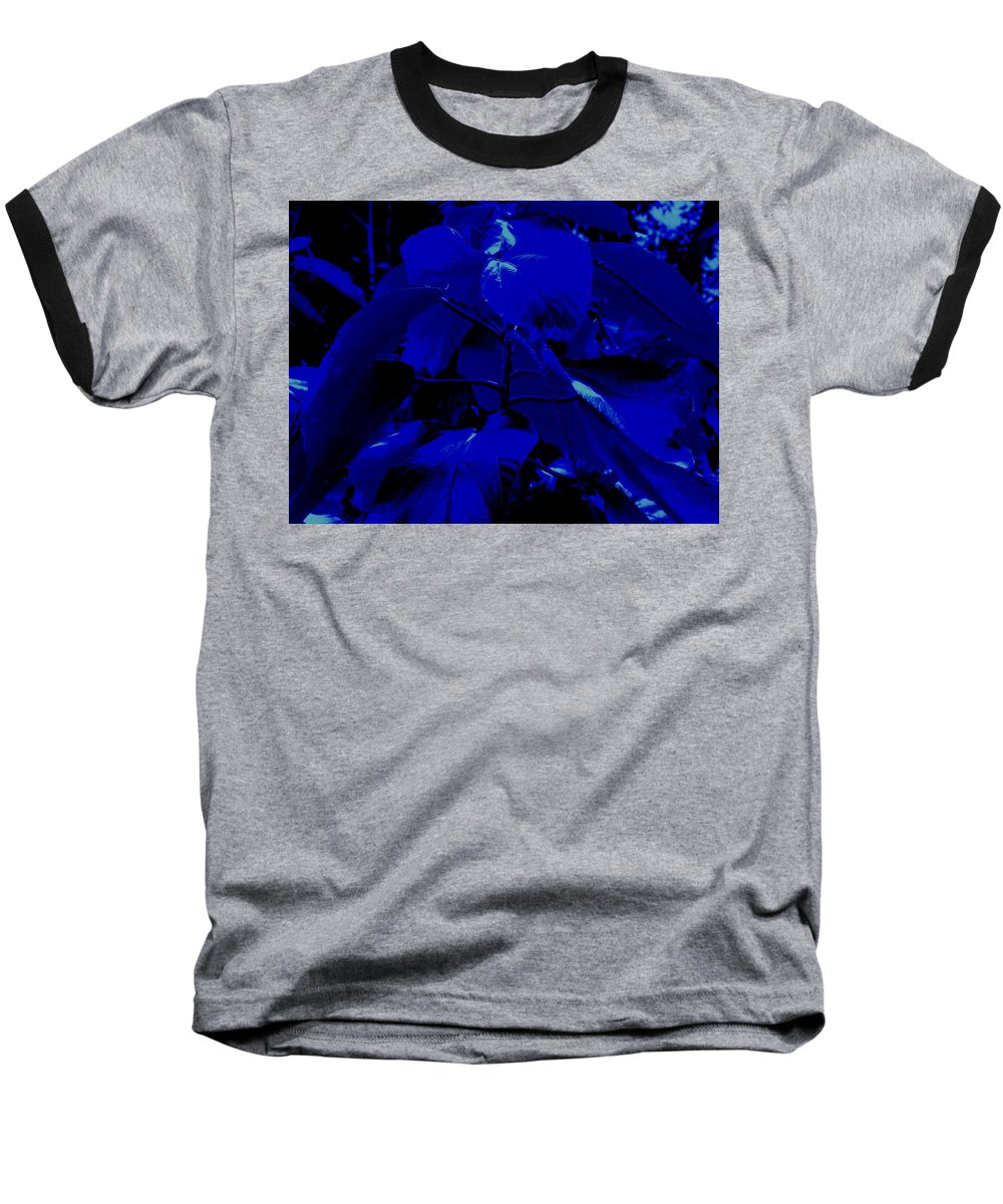 Leaves Baseball T-Shirt featuring the photograph Dark Blue Leaves by Ian MacDonald