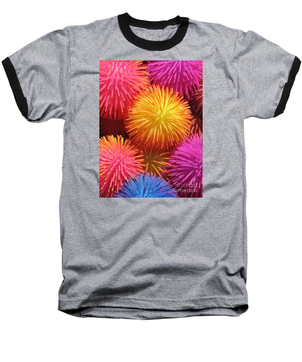 Abstract Baseball T-Shirt featuring the photograph Dazzlers by Ann Horn